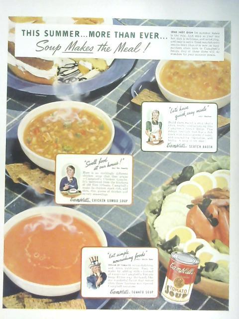 Retro Campbell's Soup Advertisement Circa 1942