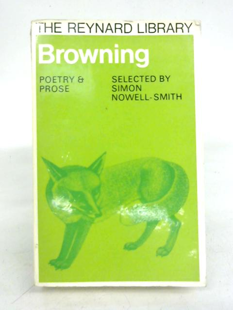 Poetry and Prose By Browning