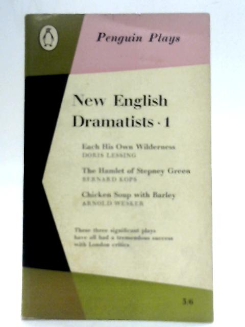 New English Dramatists, 1. By E. Martin Browne (Ed)