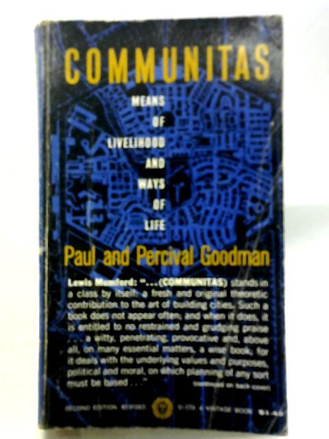 Communitas By P & P Goodman