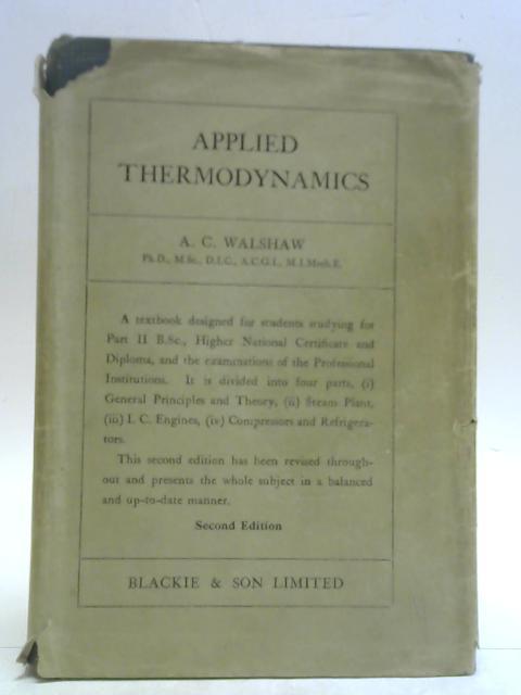 Applied Thermodynamics By A. C. Walshaw