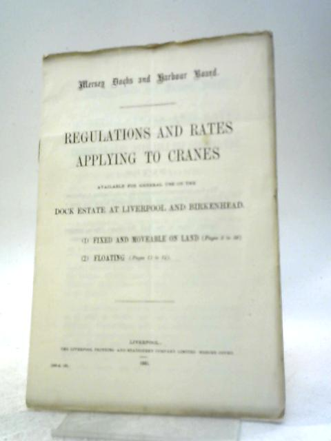 Regulations and Rates Applying to Cranes By Unstated