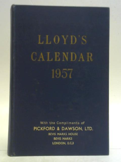 Lloyd's Calendar 1957 By Anon