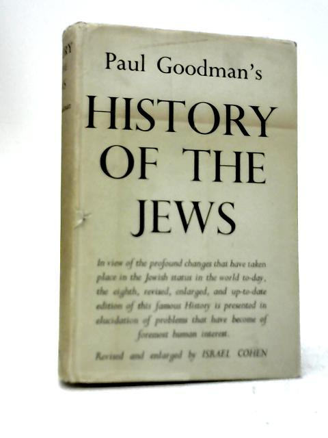 History of The Jews By Paul Goodman