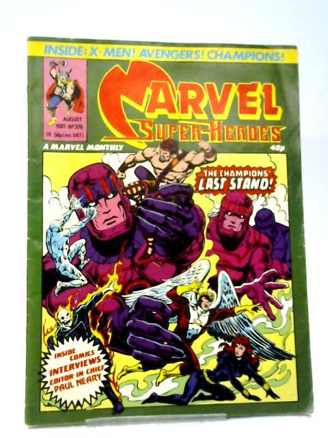 Marvel Superheroes #376 By Marvel