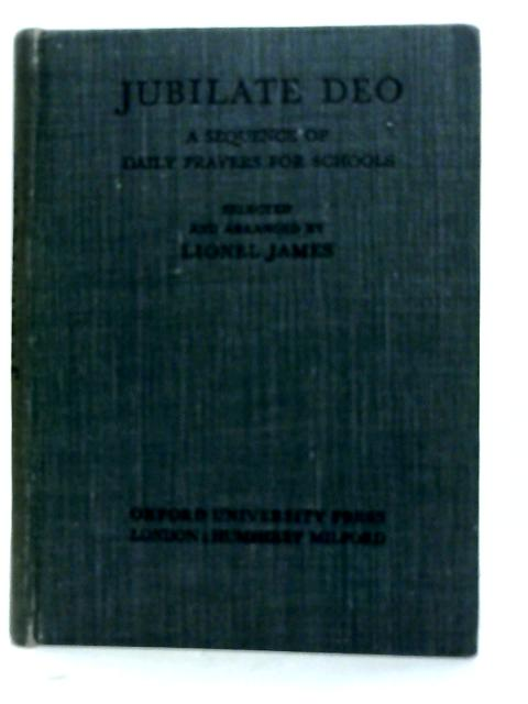 Jubilate Deo By Lionel James