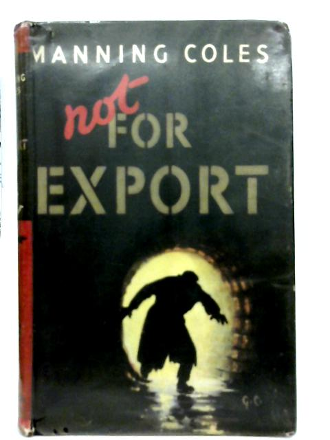 Not for Export By Manning Coles