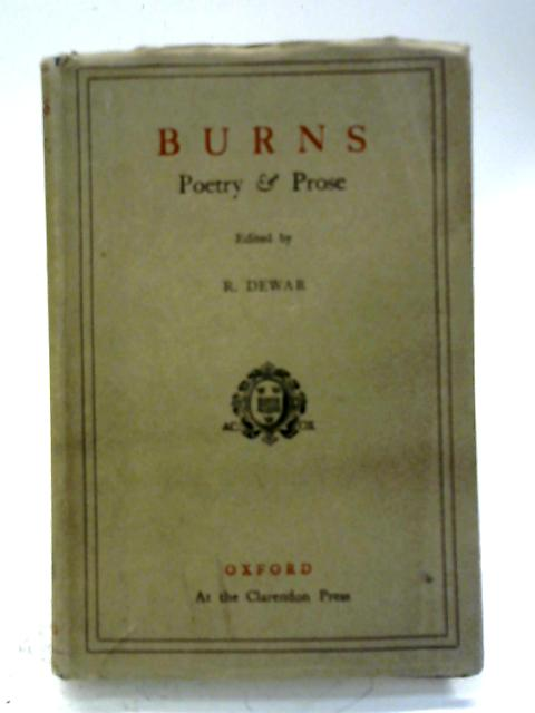 Burns Poetry & Prose By Robert Burns