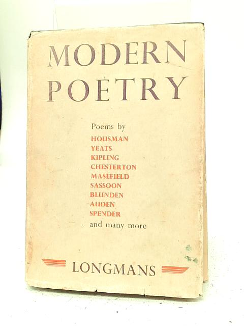 Modern Poetry By E W Parker