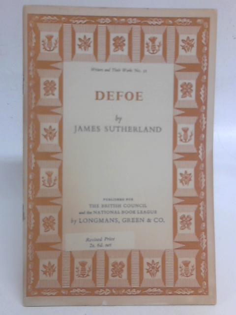 Defoe By James Sutherland