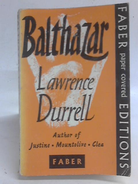 Balthazar A Novel By Lawrence Durrell