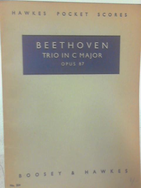 Beethoven Trio in C major Op.87 Pocket Score By Beethoven