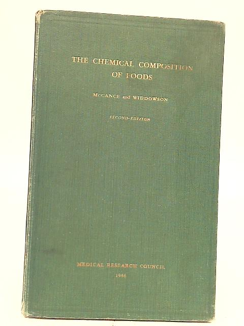 Chemical Composition of Foods By R. A. McCance
