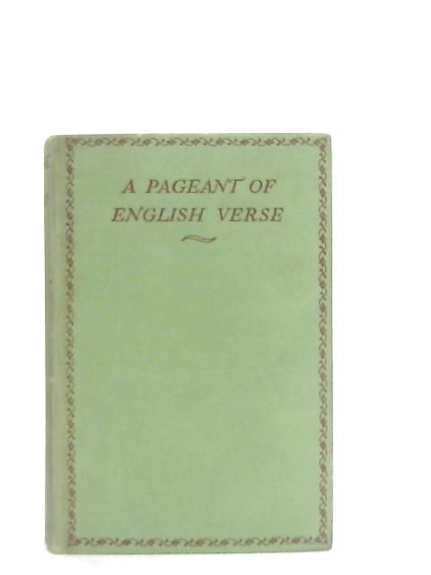 Pageant of English Verse By E. W. Parker