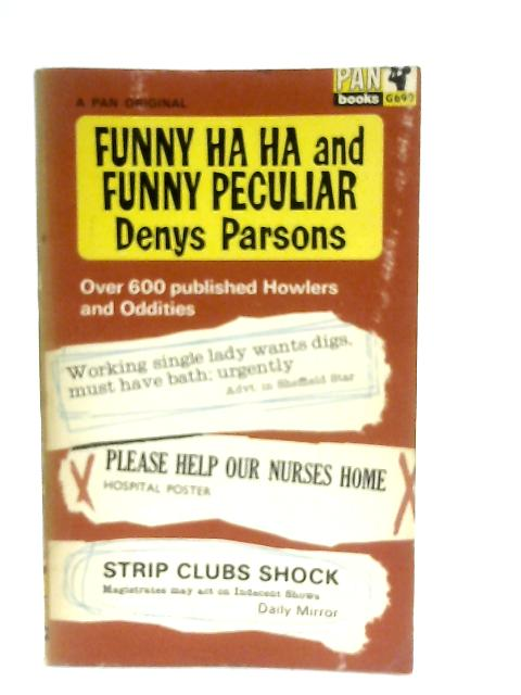 Funny Ha Ha and Funny Peculiar By Denys Parsons