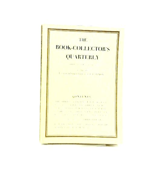 The Book Collector's Quarterly VI April 1932 By Desmond Flower & A.J.A Symons