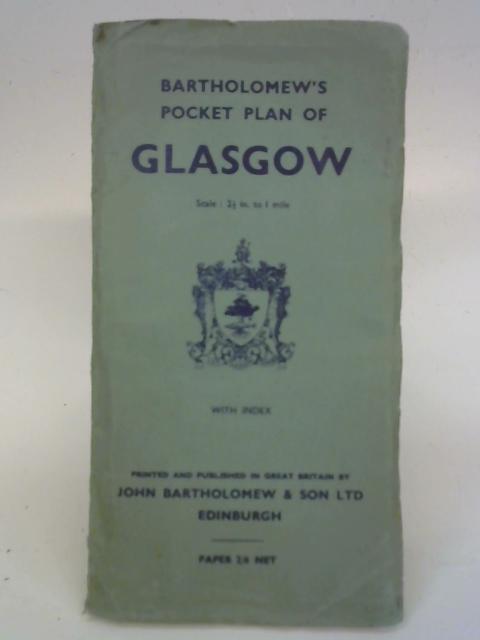 Bartholomew's Pocket Plan of Glasgow By John Bartholomew
