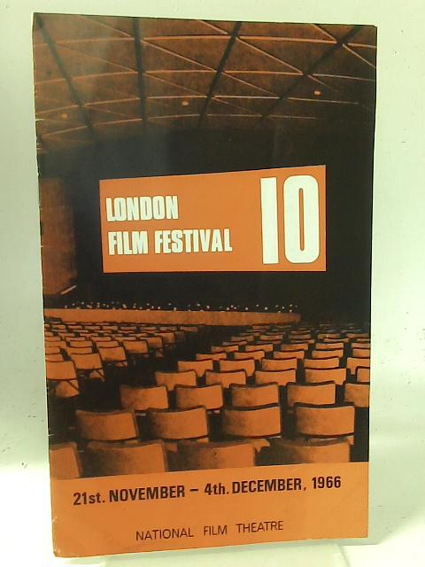"""National Film Theatre: November-December 1966 """"London Film Festival 10"""" By Unstated"""