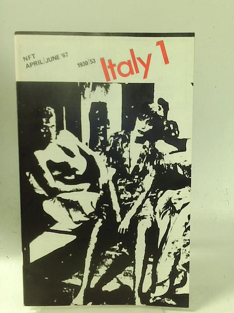 """National Film Theatre: April-June 1967 """"Italy 1"""" By Unstated"""