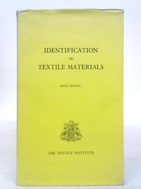 Identification of Textile Materials By Various s