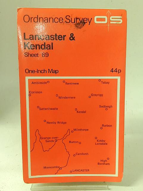 Ordnance Survey Sheet 89 Lancaster & Kendal By Ordnance Survey