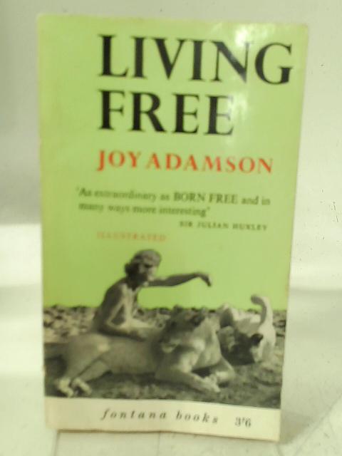 Living Free By Joy Adamson