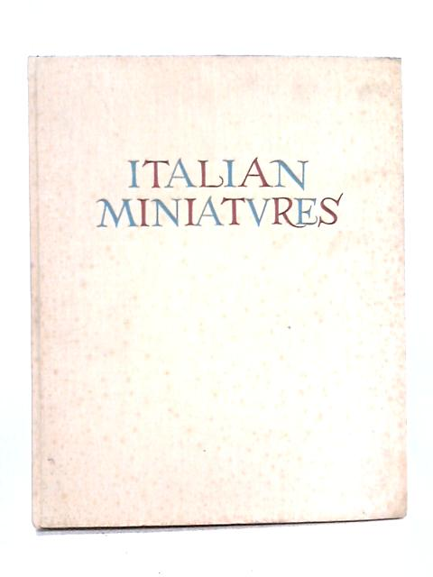 Italian Miniatures By Mario Salmi