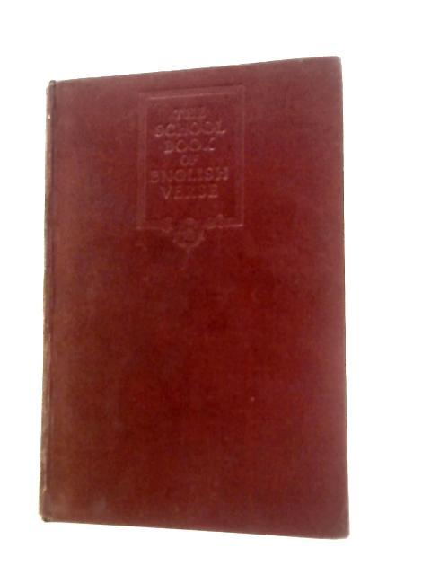 School Book of English Verse By G.Boas (Chosen by)