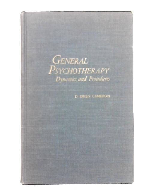 General Psychotherapy By Donald Ewen Cameron