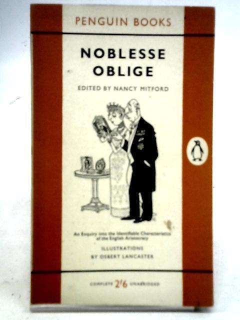 Noblesse Oblige By Nancy Mitford, et al
