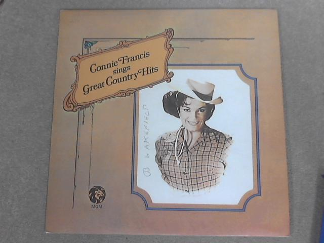Connie Francis Sings Great Country Hits by Connie Francis