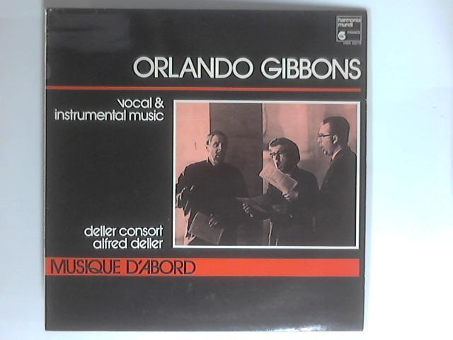 Vocal & Instrumental Music LP 1st HM 219 By Orlando Gibbons / Deller Consort