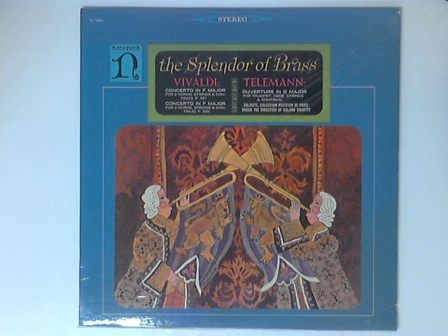 The Splendor Of Brass LP By Georg Philipp Telemann