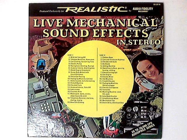 Live Mechanical Sound Effects In Stereo LP By No Artist