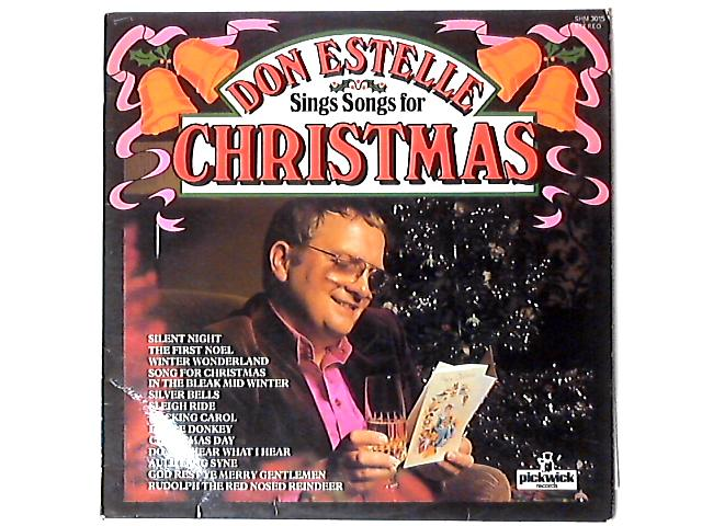 Don Estelle Sings Songs For Christmas LP by Don Estelle