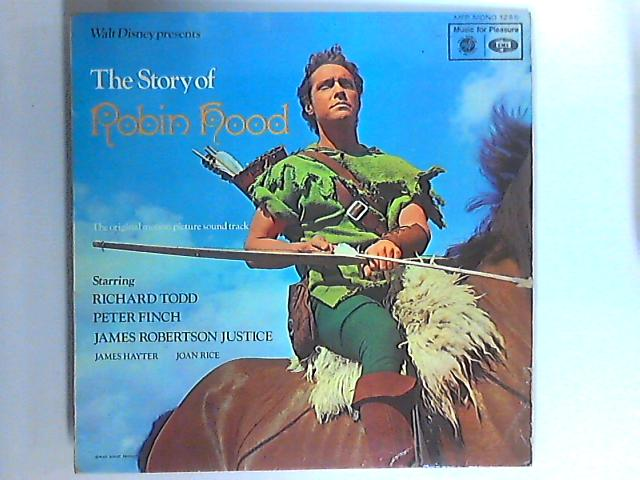 Walt Disney Presents The Story Of Robin Hood LP by Richard Todd Peter Finch / James Robertson Justice