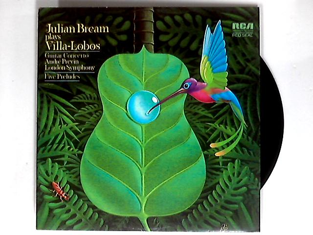 Guitar Concerto / Five Preludes LP by Julian Bream / Villa-Lobos / LSO / Previn