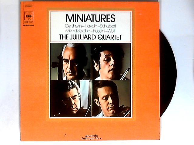 Miniatures LP by Juilliard String Quartet