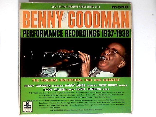 Performance Recordings 1937-1938 Vol. 1 LP By Benny Goodman