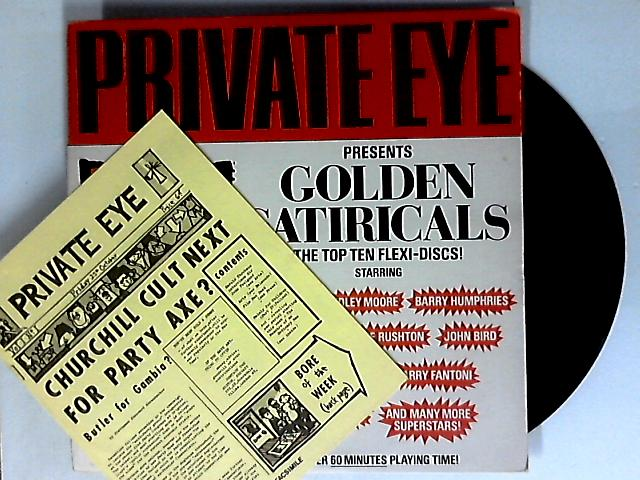 Private Eye PResents Golden Satiricals [The Top Ten Flexi-Discs!] LP 1st by Private Eye