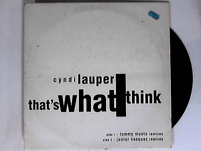 That's What I Think (Mixes) 12in by Cyndi Lauper