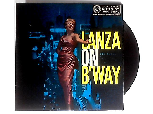Lanza On Broadway LP by Mario Lanza