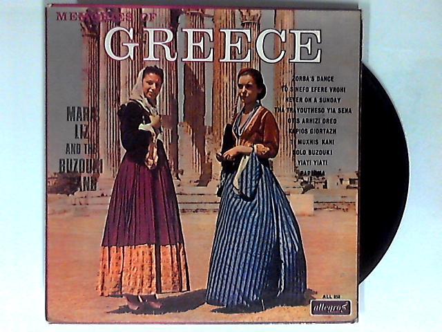 Memories Of Greece LP 1st By Mara Liz & The Buzouki Band