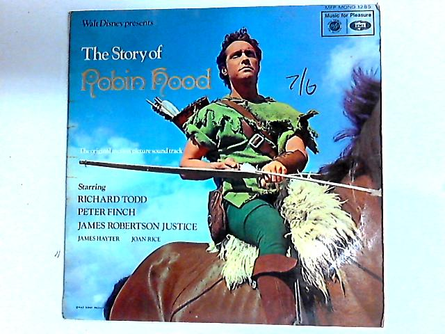 Walt Disney Presents The Story Of Robin Hood LP by Richard Todd
