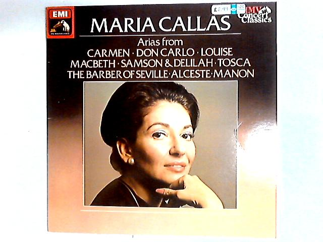 Sings Operatic Arias Comp By Maria Callas