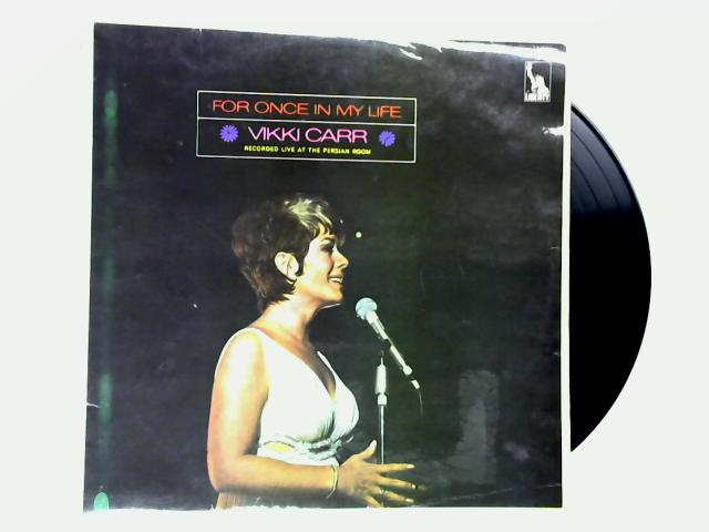 For Once In My Life LP 1st by Vikki Carr