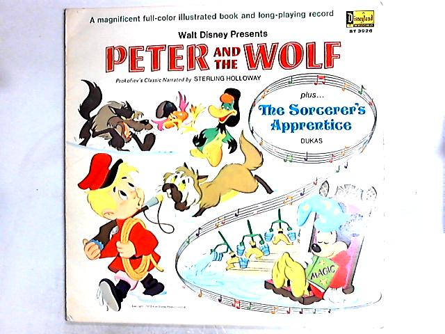 Walt Disney Presents Peter And The Wolf (Plus The Sorcerer's Apprentice) LP Gat by Sterling Holloway