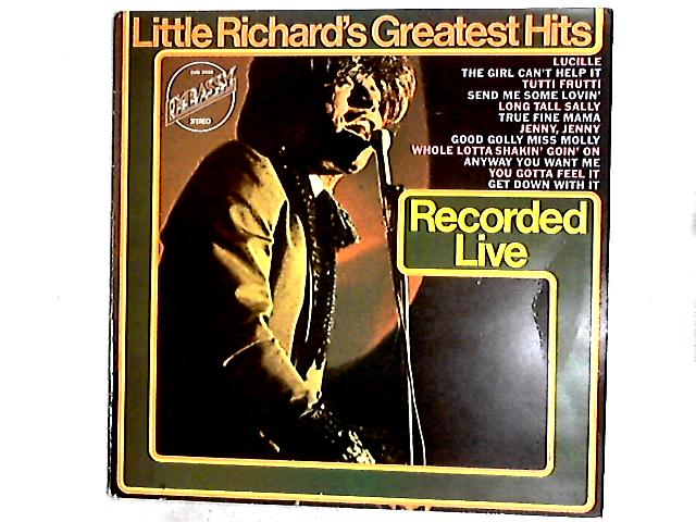 Little Richard's Greatest Hits Recorded Live LP by Little Richard