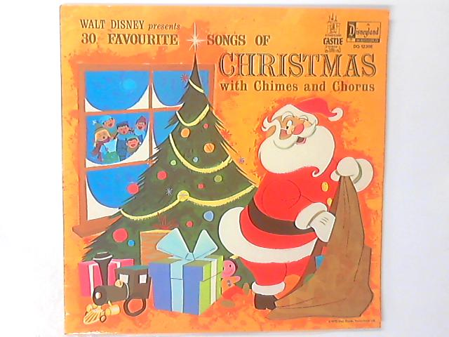 Walt Disney Presents 30 Favourite Christmas Carols And Songs LP by Mike Sammes Singers
