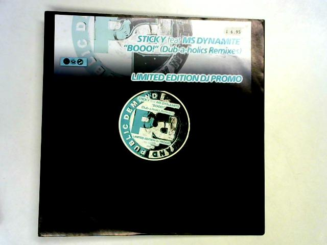 Booo! (Dub-A-Holics Remixes) 12in promo by Sticky
